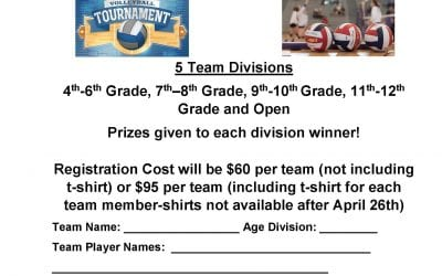 Co-Ed Volleyball Tournament Fundraiser