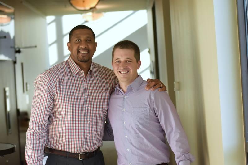 MHS Coaching Staff Meets Scotty Thurman