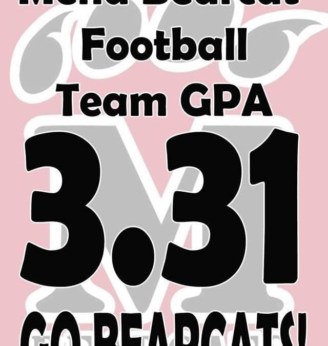 3.31 Overall Football Fall GPA